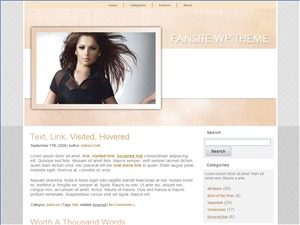 Fansite Wordpress Theme WordPress page template