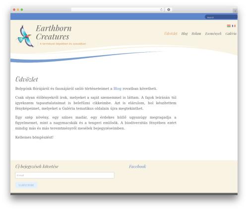 Longevity theme WordPress - earthborncreatures.com