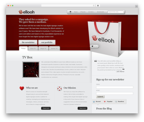 MyProduct best WordPress theme - elloh.info