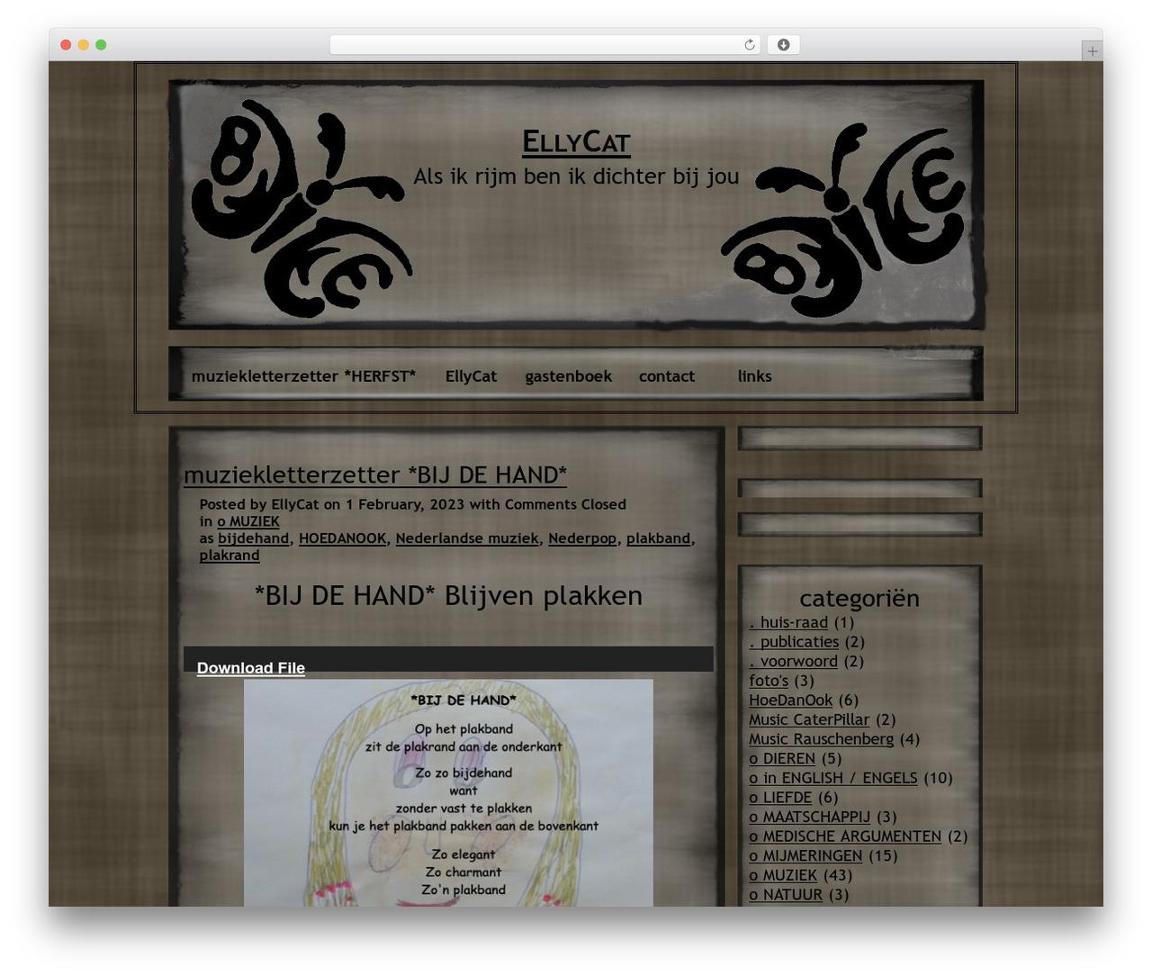 NoNa free WordPress theme - ellycat.nl