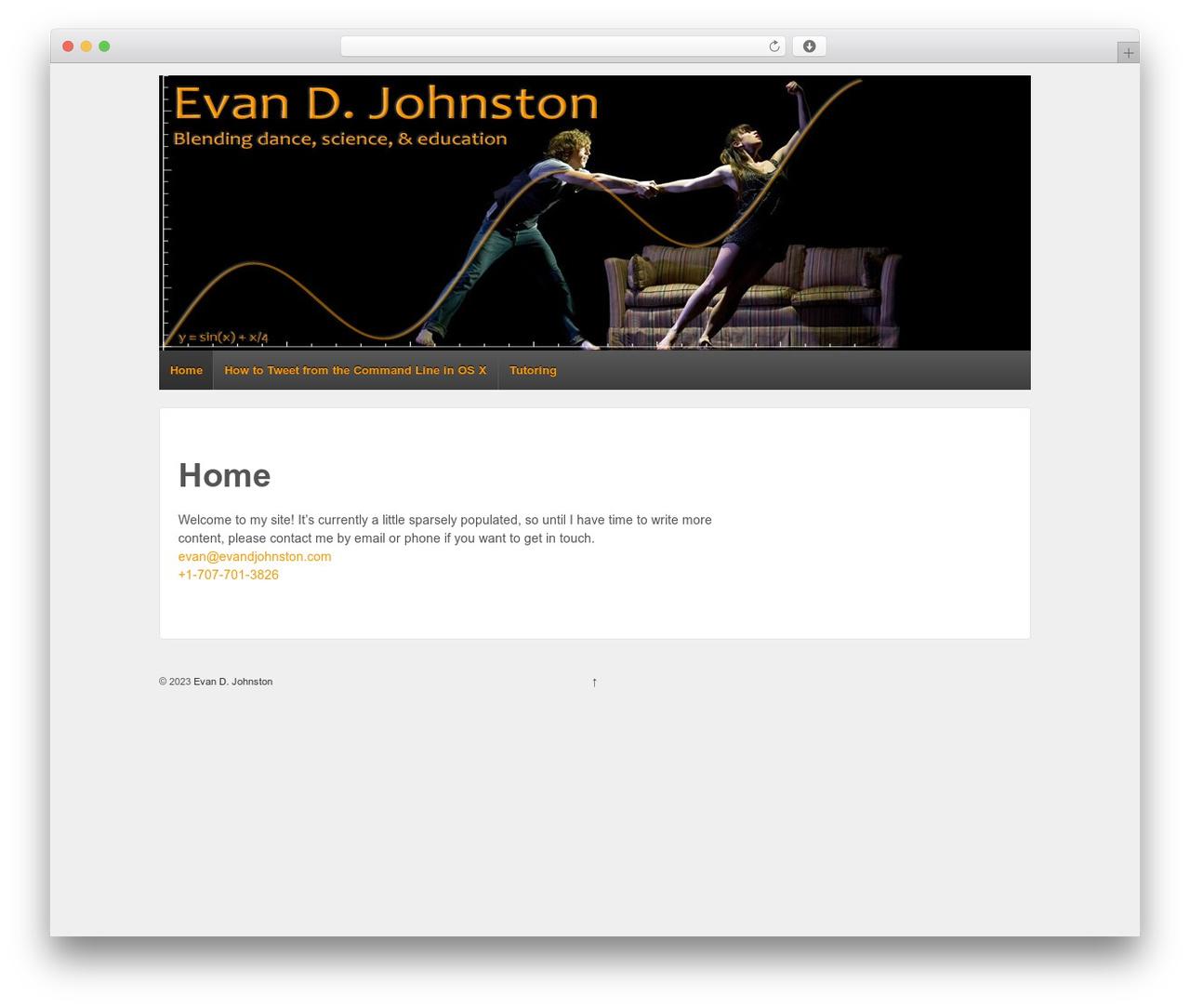 Responsive best free WordPress theme - evandjohnston.com