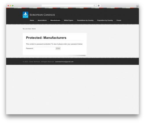 Template WordPress Swatch - europeancandles.com