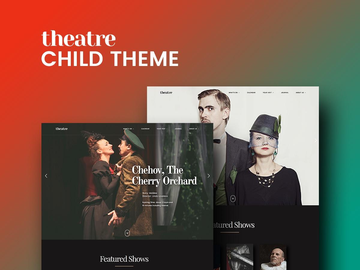 Theatre WP Child company WordPress theme