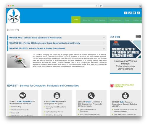 Theme WordPress YellowProject Multipurpose Retina WP Theme - edrest.org