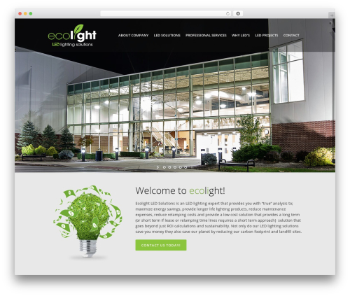 WordPress website template Elision - ecolightledsolutions.com