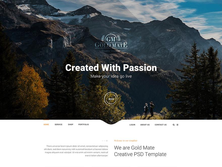 WP Goldmate Child WordPress news theme