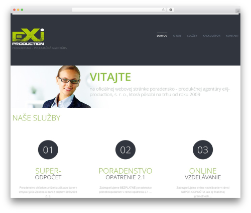 cherry WordPress theme design - exj-production.sk