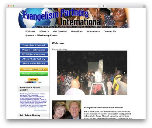 Custom Community Pro WordPress theme - evangelismpartners.org