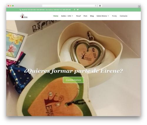 Divi WordPress theme - eirenespain.org