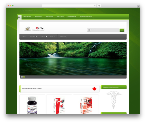 Elite WordPress theme - elite-pharmacaps.com