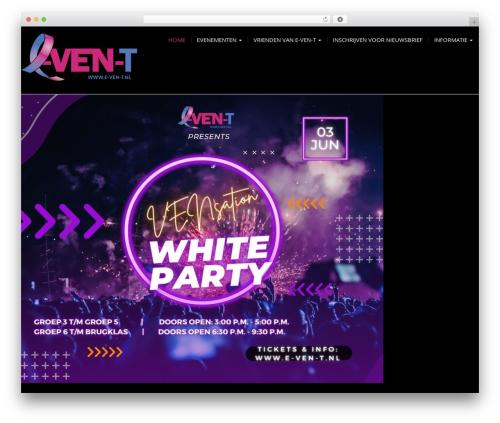 Modality Pro WordPress theme design - e-ven-t.nl