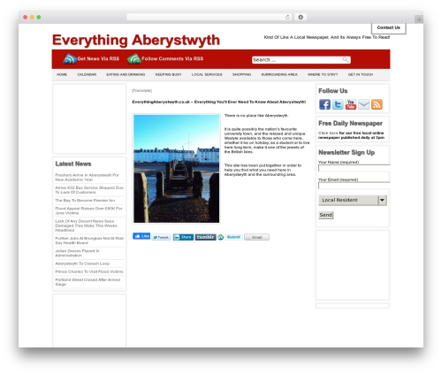 Producer WordPress page template - everythingaberystwyth.co.uk