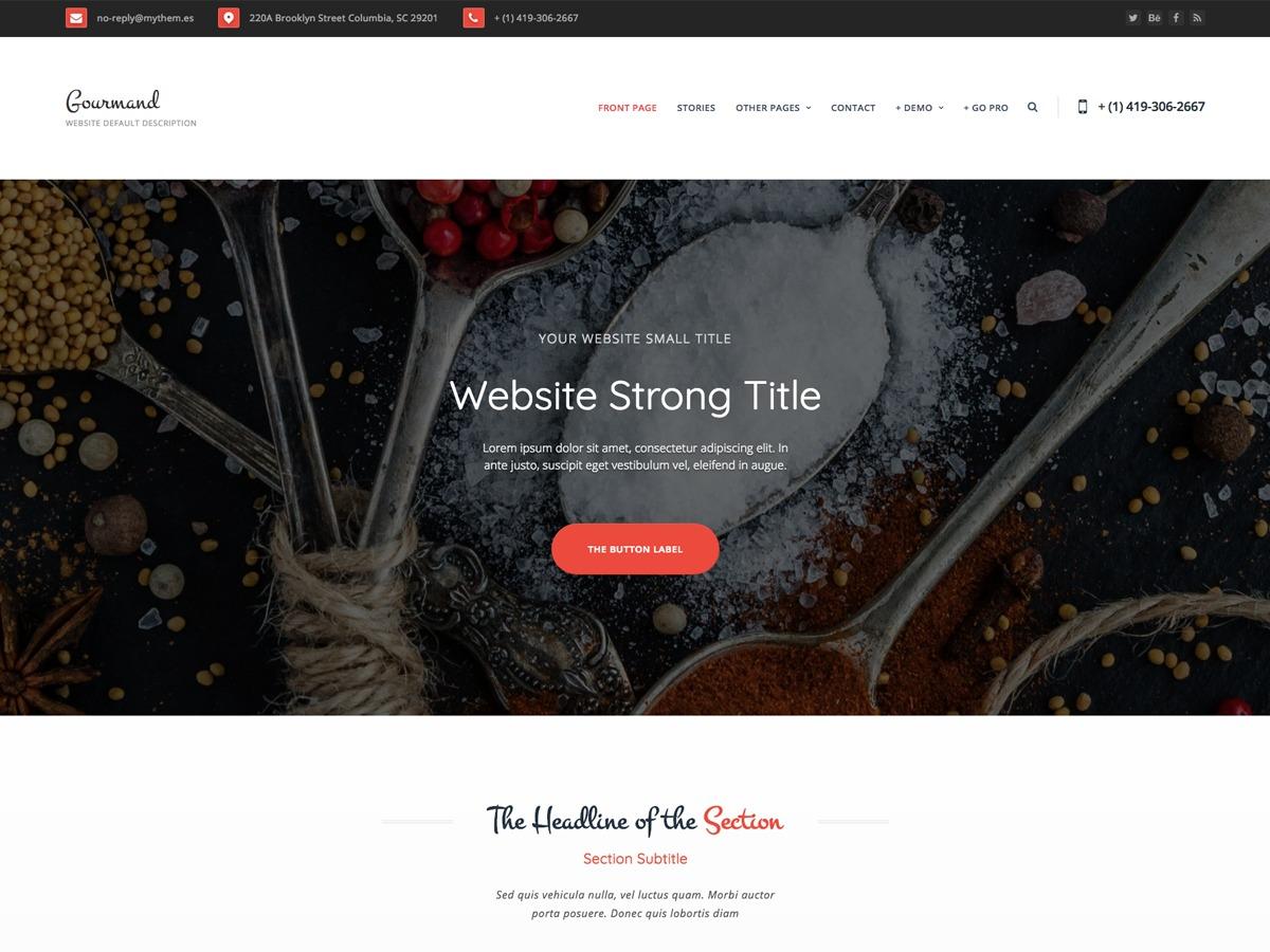 Theme WordPress Gourmand
