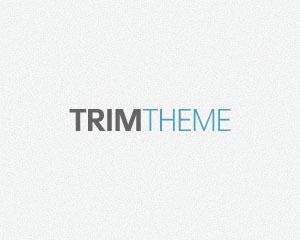 Trim Child Theme WordPress page template