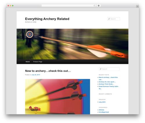 Twenty Eleven free WordPress theme - everythingarcheryrelated.com