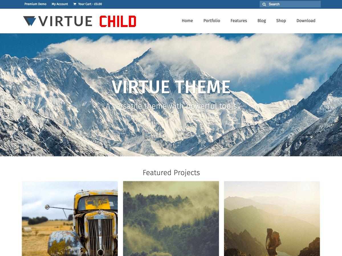 Virtue WordPress store theme