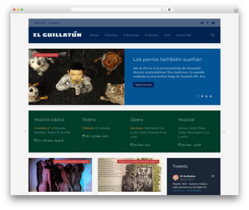 WordPress theme Avion - elguillatun.cl