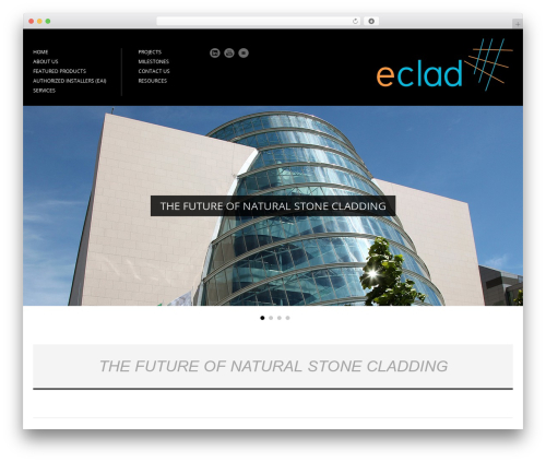 WordPress website template Architecture - eclad.ie