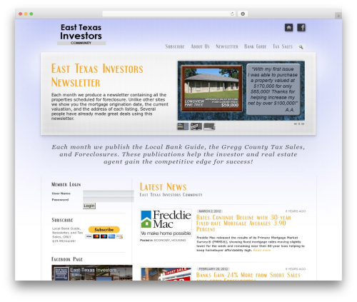 WordPress website template Prestige Ultimate Wordpress Theme - easttexasinvestors.com