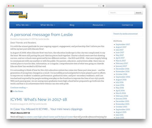 WP template Bootstrap Basic - educatenow.net