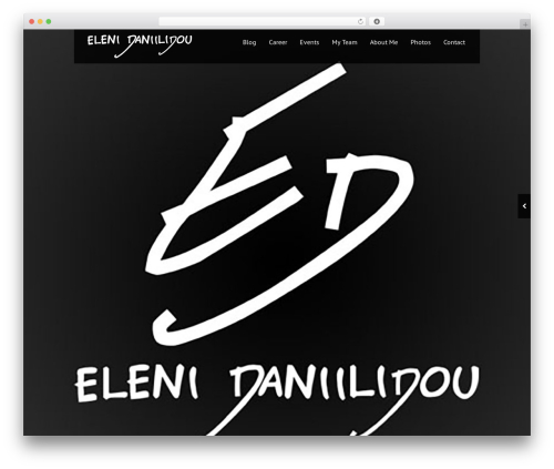 Black Label WordPress theme - eleni-daniilidou.com