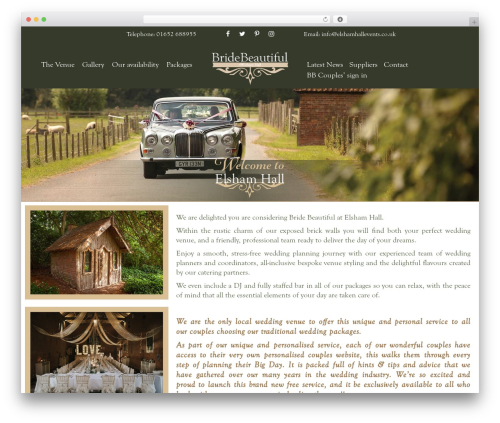 Bridebeautiful best WordPress theme - elshamhallevents.co.uk