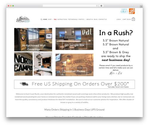 Flatsome premium WordPress theme - eastcoastrustic.com