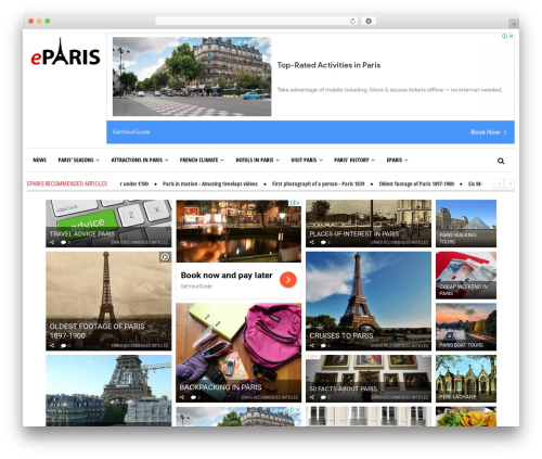 Newspeak WordPress news theme - eparis.com
