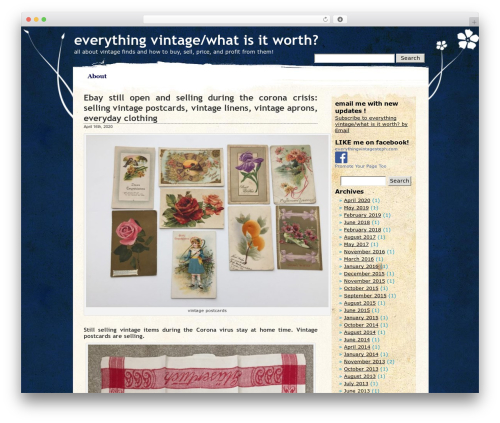 Pretty Parchment theme WordPress - everythingvintagesteff.com
