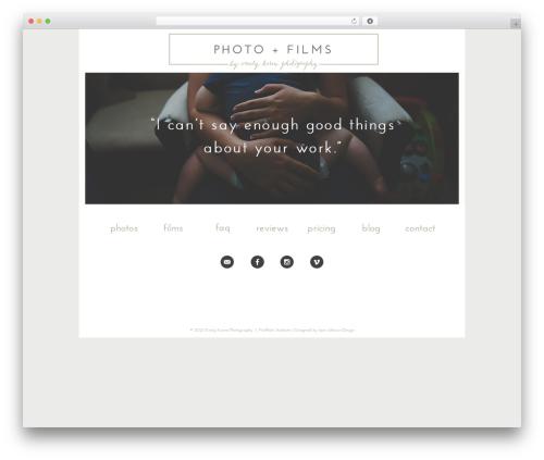 ProPhoto WordPress template for photographers - emilykaren.com