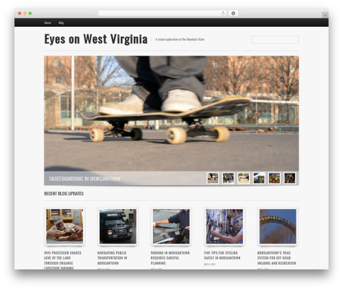 Reportage best WordPress template - eyesonwv.com