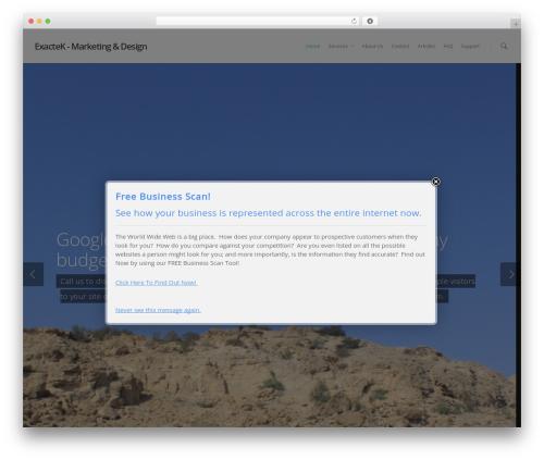 Salient WordPress page template - exactek.com