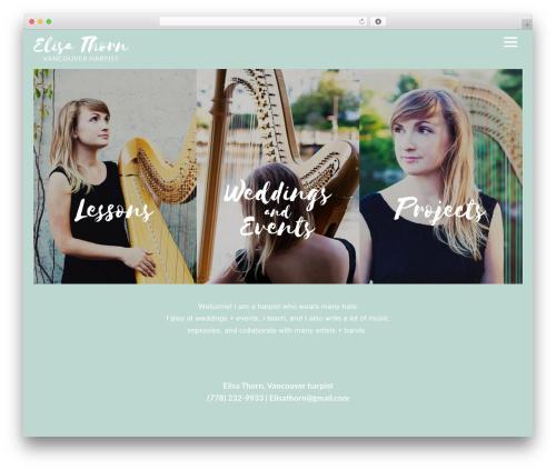 Themify Music WordPress theme - elisathorn.com