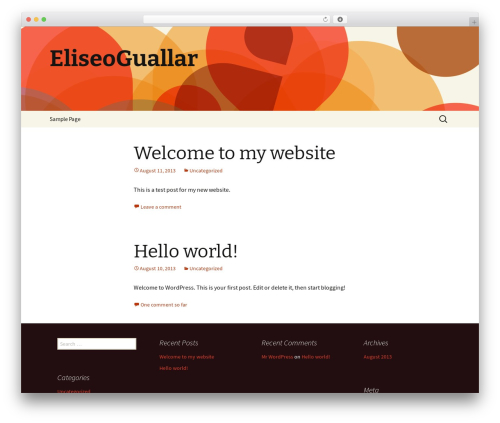 Twenty Thirteen WordPress template free download - eliseoguallar.com