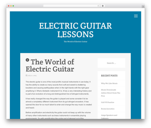 WordPress theme Aries - electricguitarlessons.net