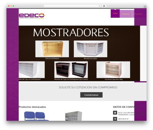 WordPress website template YellowProject Multipurpose Retina WP Theme - edeco.com.mx