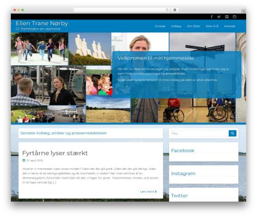 WP RootStrap free WordPress theme - ellenifolketinget.dk