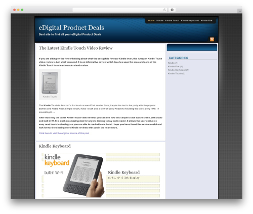 Affiliate Internet Marketing theme template WordPress - edigitalproductdeals.com