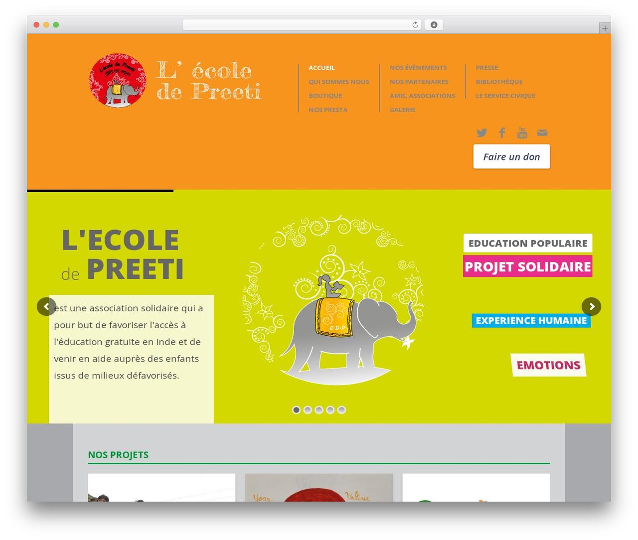 Biosphere template WordPress - ecoledepreeti.com