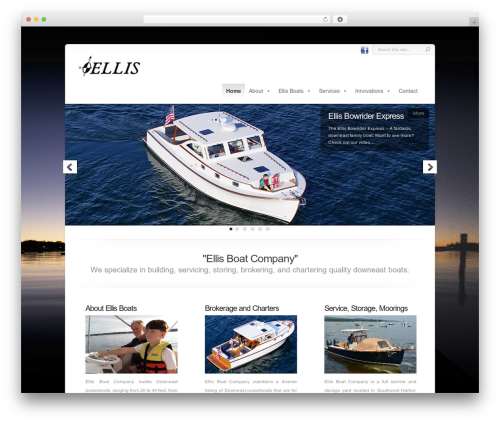 Chameleon company WordPress theme - ellisboat.com