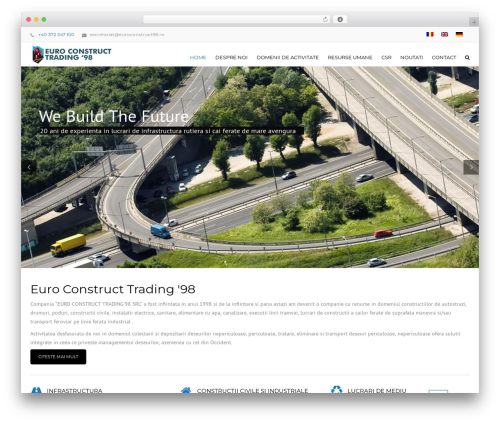 Construction business WordPress theme - euroconstruct98.ro