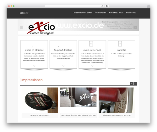 isis best WordPress template - excio.ch