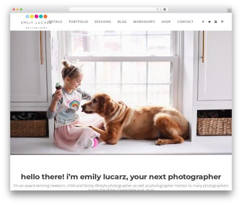 Lydia WordPress theme image - emilylucarzphotography.com
