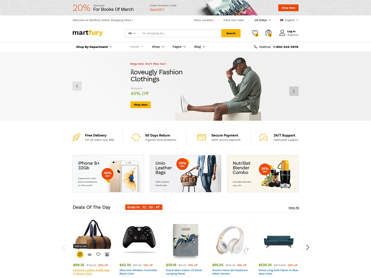 Martfury best WooCommerce theme