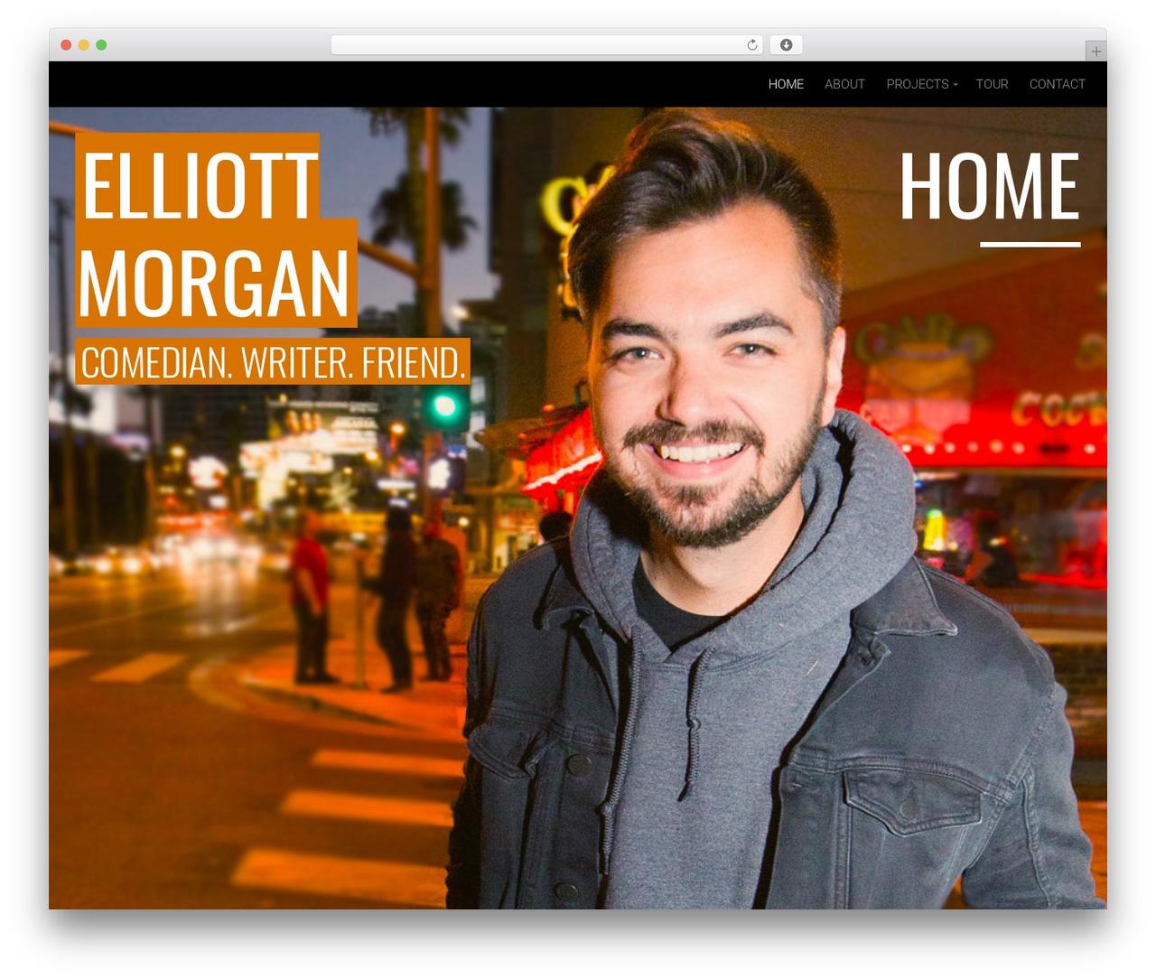 Organic Entertainer Wordpress Website Template By Organic Themes