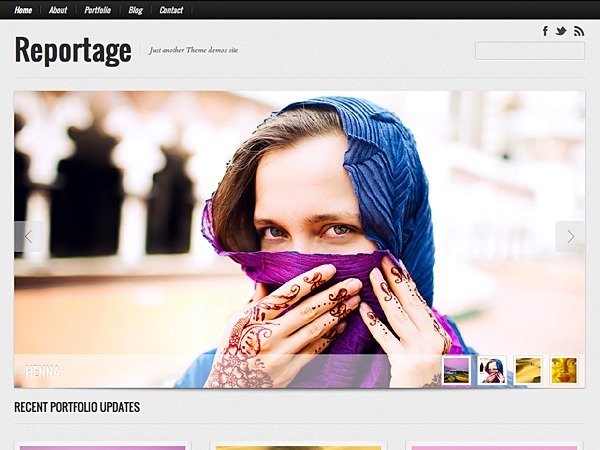 Reportage newspaper WordPress theme