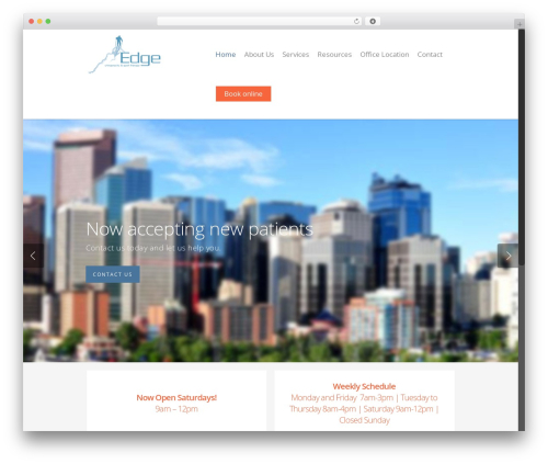 WP theme Salient - edgechiro.com