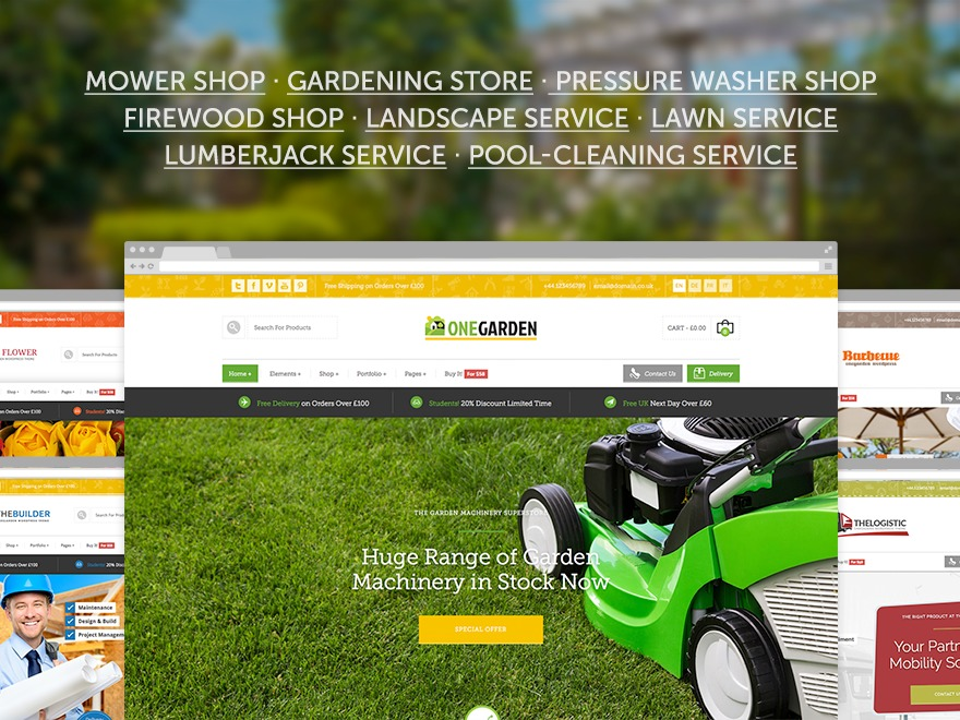 123Garden Child Theme landscaping WordPress theme