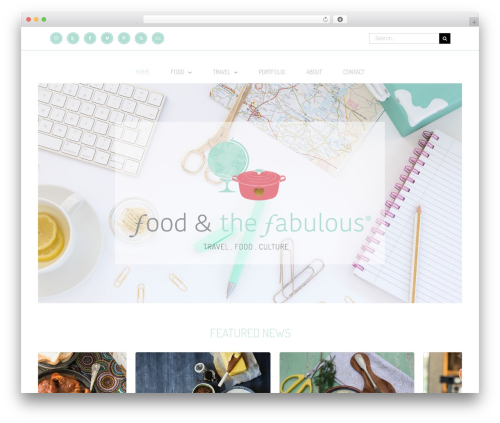 Avada WordPress theme - foodandthefabulous.com