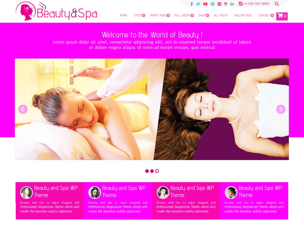 Beauty and Spa free WP theme